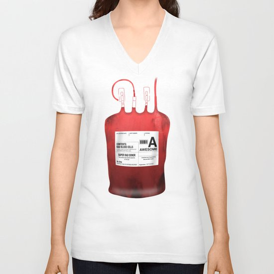 My Blood Type is A, for Awesome! *Classic* V-neck T-shirt