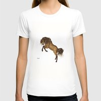 HORSE - Gypsy Womens Fitted Tee White SMALL