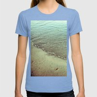 Abstract rippled water on the sand Womens Fitted Tee Tri-Blue SMALL