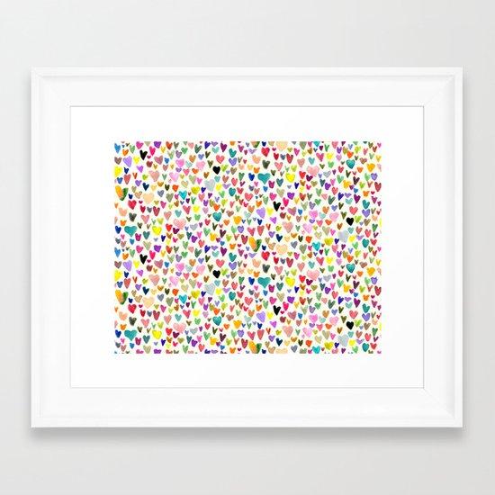 Love the world Framed Art Print