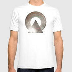 Stereo Induction White Mens Fitted Tee SMALL