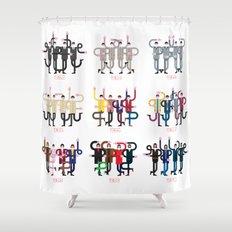 FAB FOUR (R)EVOLUTION Shower Curtain