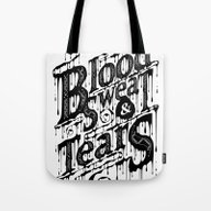 Tote Bag featuring Blood, Sweat, & Tears by 83 Drops