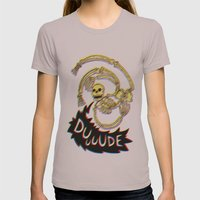 Skeleton Bro 3D Womens Fitted Tee Cinder SMALL
