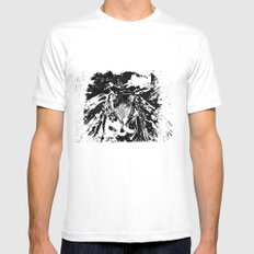 Moth SMALL White Mens Fitted Tee