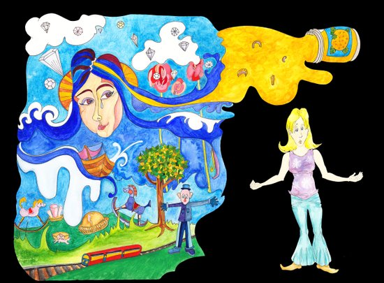 Lucy in the Sky With Diamonds Dream Art Print