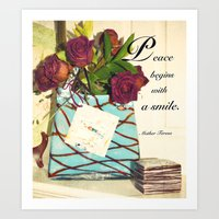 Peace Begins With A Smil… Art Print