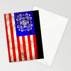 An American flag Stationery Cards