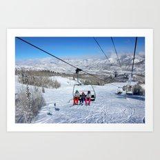 Summit Express Trio Art Print