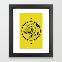 Tiger In A Circle Framed Art Print