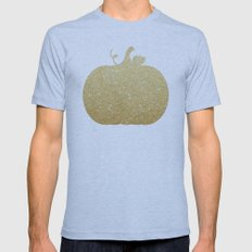 Gold Glitter Pumpkin Mens Fitted Tee Athletic Blue SMALL