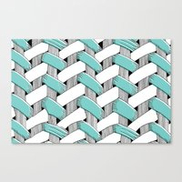 Basket Weave Canvas Print
