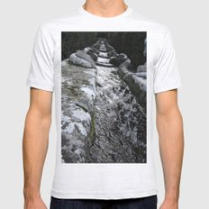 Villa Lante Water Chain Mens Fitted Tee Ash Grey SMALL