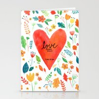 Love never fails Stationery Cards