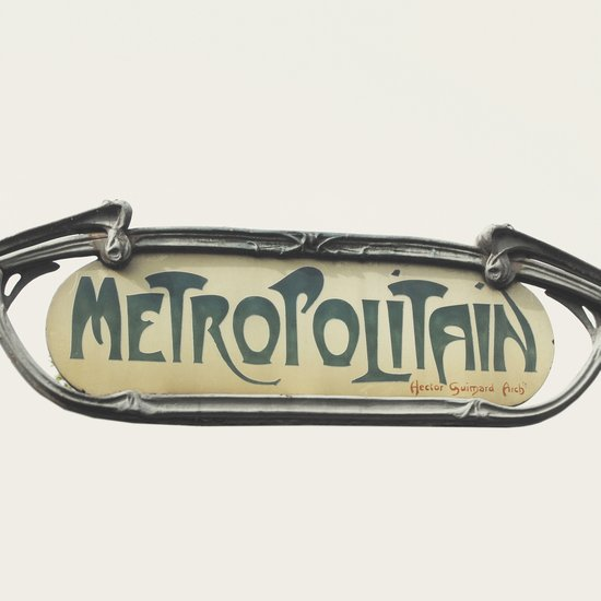 Metropolitain - Paris Sign Photography Art Print