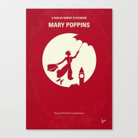 No539 My Mary Poppins minimal movie poster Canvas Print