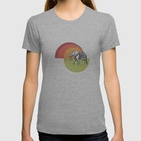 Elephant... Womens Fitted Tee Athletic Grey SMALL