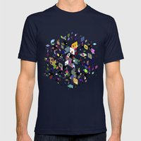 Breaking Free Mens Fitted Tee Navy SMALL