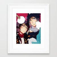 手入 Framed Art Print