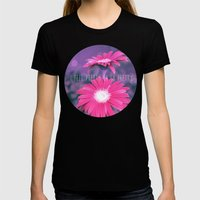 Gerberas  Womens Fitted Tee Black SMALL