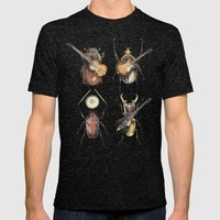 Meet the Beetles (white option) Mens Fitted Tee Tri-Black SMALL