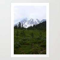 Mount Rainier Art Print