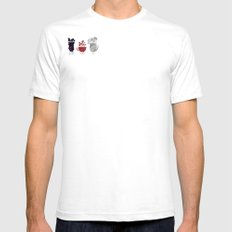 Teacups Mens Fitted Tee SMALL White