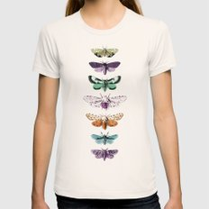 Techno-Moth Collection Womens Fitted Tee Natural SMALL