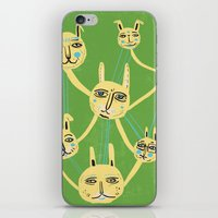Connected Rabbits iPhone & iPod Skin