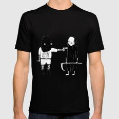 Rob Death Black SMALL Mens Fitted Tee