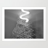 Christmas Tree lights. Art Print