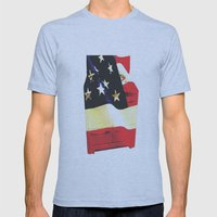 American Homemaker  Mens Fitted Tee Athletic Blue SMALL