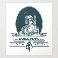 Famous Boba Fett For Hir… Art Print
