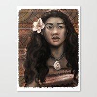MOANA: Wahine nani Canvas Print