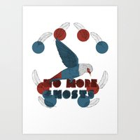 No More Ghosts - Mauritius Blue Pigeon Art Print