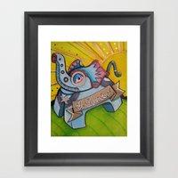 El Efante Framed Art Print