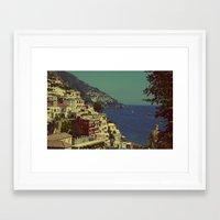 Positano, Italy View Framed Art Print