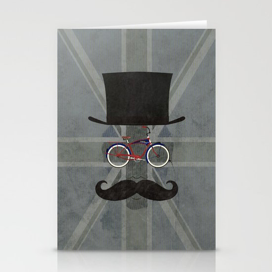 Bicycle Head Stationery Card