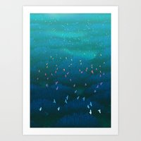 Amazonian Flight Art Print