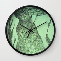 Hiding in the green Wall Clock