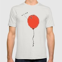 Awkward Balloon Mens Fitted Tee Silver SMALL