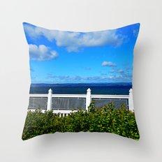 Shoreline Fence Throw Pillow