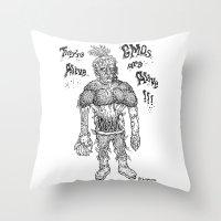 GMO-kenstein Throw Pillow