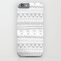 Grey Aztec Pattern iPhone 6 Slim Case