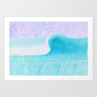 SURF WAVE | WATER COLOR Art Print
