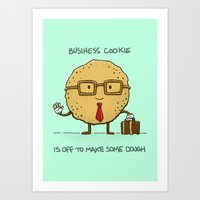 The Business Cookie Art Print