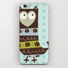 Brown Whimsy Owl iPhone & iPod Skin