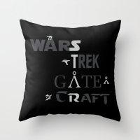 Geek All Stars Throw Pillow