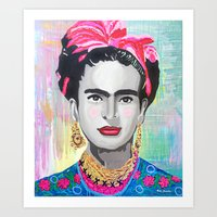 Frida Kahlo By Paola Gon… Art Print