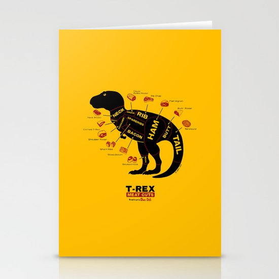 Dino Deli Stationery Card